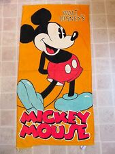 MICKEY MOUSE Standing Bath/Beach TOWEL Orange Classic Pose Walt Disney's