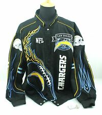 4XL NFL Team Apparel SAN DIEGO CHARGERS on FIRE Mens Cotton Stitched Coat Jacket
