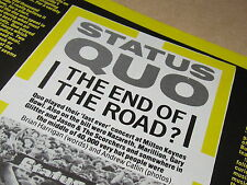 STATUS QUO TWO-PAGE ARTICLE SMASH HITS MAGAZINE AUG 1984 EACH PAGE IS 28 X 21 CM