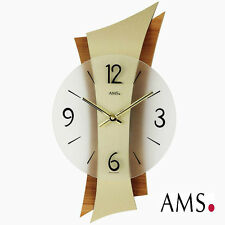 AMS Reloj 9396 Cuarzo De Salón Cristal mineral Parte posterior raiz haya