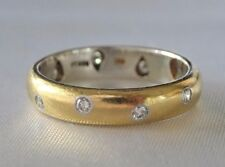 Platinum  & 18k  Yellow gold diamond   Ring Band  Size 7 1/2