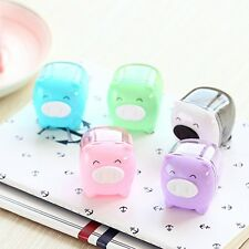 1Pc Cute Mini Pig Pencil Sharpener Animal Stationery For School Student Kid Gift