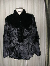 FRANCE RABBIT FUR BOLERO JACKET COAT BLACK REAL RABBIT FUR