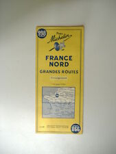carte MICHELIN n°998 FRANCE NORD - GRANDES ROUTES -1963