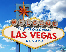 Welcome to Fabulous Las Vegas Nevada Famous Sign Sin City 8 x 10 Photo