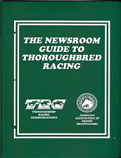 1992 THE NEWSROOM GUIDE TO THOROUGHBREAD RACING  HORSE RACING