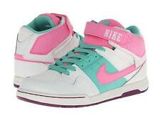 "NEW Kid's Nike ""Mogan Mid 2"" -WAS $58!- size 6.5 White/pink/mint mid-cut sneaker"