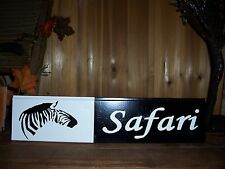ZEBRA SAFARI MAN CAVE SIGN BAR PUB JUNGLE ANIMAL GAME ROOM COUNTRY WESTERN SPORT