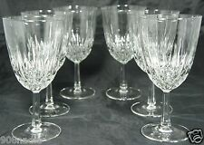 VINTAGE ? SIMPLE CLASSIC WINE OR WATER CLEAR GLASSES  SET OF 6