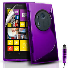 Silicone Gel Case Cover Pouch For Nokia Lumia 1020/EOS/909 & Screen Protector