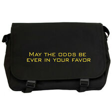 MAY THE ODDS BE EVER IN YOUR FAVOR Black Messenger Bag laptop school NEW