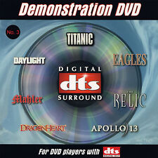 New! DTS 5.1 Demo #3 Genuine DVD Very Rare OOP
