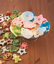 12 Piece Holiday Cookie Cutter and Stencil Set Kitchen Festive NEW
