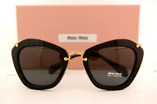 Brand New Miu Miu Sunglasses MU 10N 10NS 1AB1A1 BLACK/GREY Women 100% Authentic