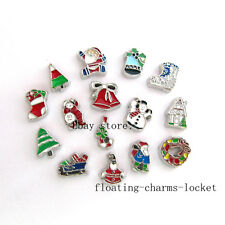 10pcs New Style Christmas Theme Floating Charms for Glass Locket Free Shipping