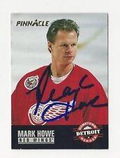 1993 Pinnacle Autographed Hockey Card Mark Howe Detroit Red Wings