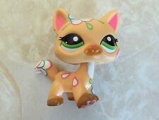 Littlest Pet Shop RARE Short Hair Cat #1582 Flowers Postcard Tattoo Walking LPS