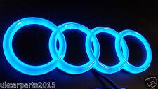 blu nuovo HQ AUDI A3 A4 A6 A5 Emblema Luce Auto Led emblema 4d ripiano Adesivo
