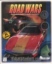 ROAD WARS - Rare Classic Combat Racing Simulation PC Game NEW in BIG BOX!