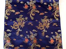 """2 New pillow cases Blue with dragon and phoenix 16"""" x 16"""""""