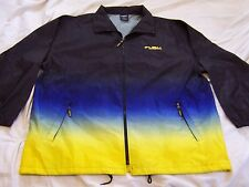 FUBU Color Block Hip Hop Extreme Sports Lightweight Windbreaker Jacket sz 2X