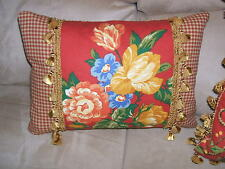Gorgeous Pierre Deux Pillow Gittens Red Yellow Blue French Country Toile Fabric