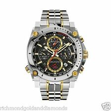 Bulova 98B228 Precisionist Chronograph Two Tone Stainless 300M Men's Watch NEW