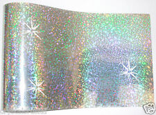 12 SILVER iron-on hotfix spangle sequin sheet craft customise tshirt transfer