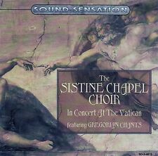 THE SISTINE CHAPEL CHOIR : IN CONCERT AT THE VATICAN FEAT. GREGORIAN CHANTS / CD
