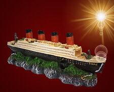 Aquarium-Deko ❤️ TITANIC WRACK ❤️ mit Luftanschluss Schiffswrack Zubehör