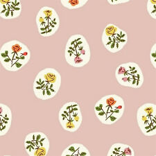 Heather Ross ~ Tiger Lily Rose Bud Pink Fabric / quilting dressmaking vintage