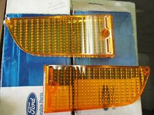 NOS 1971 72 73 FORD MUSTANG PARKING LAMP LENSES PAIR