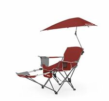Sport-Brella Recliner Outdoor Camping Beach Picnic Folding Chair, Red, Umbrella