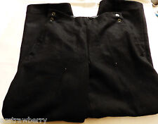 USSR VTG Soviet Russian USSR Military army Black thick Wool Trousers pants