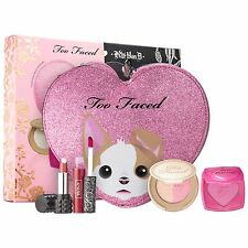 Too Faced x Kat Von D Better Together Cheek & Lip Makeup Bag Set NIB Limited Ed.