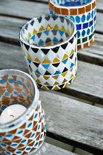 Teelichthalter vidrio mosaico multicolor Orient oriental ethno, Pomax Bélgica