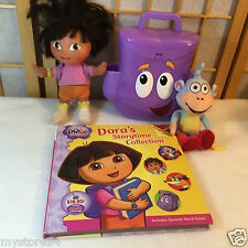 Dora The Explorer Doll Purse Backpack Figure Boots Plush Toy Story Time Book Lot