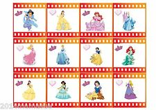3 x DISNEYS PRINCESS FILM STRIP BORDER RIBBON EDIBLE ICING SHEET CAKE TOPPER
