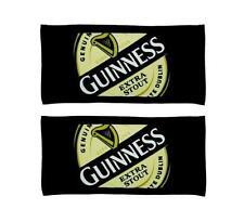 GUINNESS LOGO 2 WOVEN BEER BAR GOLF TOWEL 19x10 NEW