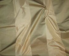 "Beige & Sage Green Satin WIDE Stripe Silk TAFFETA Fabric 54"" 1 Yard SUPER SALE"