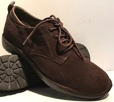 GH BASS & Co SASSY Dark Brown Suede Leather Oxfords Shoes Women's Size 7