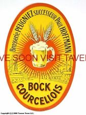 Scarce France Peugniez Courcellois Bock Biere Tavern Trove French Beer Label