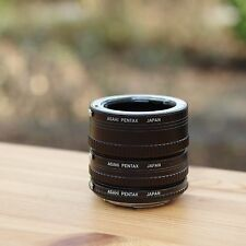 ASAHI PENTAX EXTENSION TUBE K SET ** Manual macro tube set K ** Pentax PK Makro