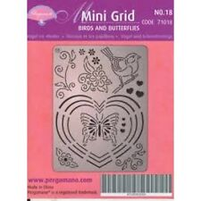 Pergamano Parchment Craft Mini Grid No. 18 Birds & Butterflies Shabby Chic