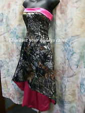 'Erika' Custom Made in the USA CAMO Prom Homecoming Bridesmaids Hi-Lo Dress