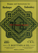 Instructions & Designs for Hardanger or Norwegian Embroidery, Pattern Book on CD