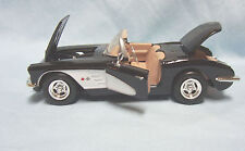 1959 Corvette Convertible Collectible Diecast Model Car Black 1:24  Motor Max