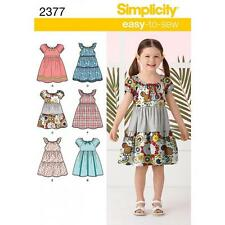 SIMPLICITY SEWING PATTERN CHILD'S DRESSES SIZE 3 4 5 6 7 8  2377
