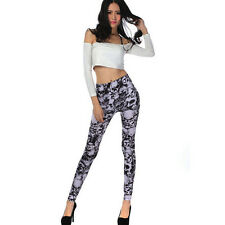 Scrawl Skeleton printed Leggings Sexy Pants Girls Rock Punk Funky