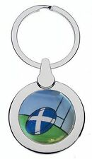 SCOTTISH RUGBY CHROME KEYRING